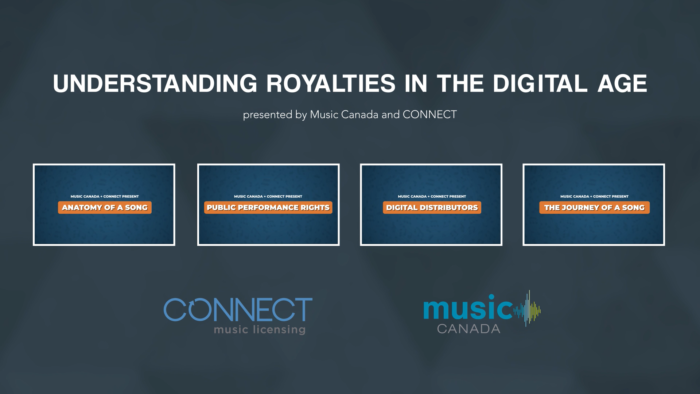 """CONNECT Music Licensing and Music Canada launch """"Understanding Royalties In the Digital Age"""" video series, supported by Ontario Creates"""